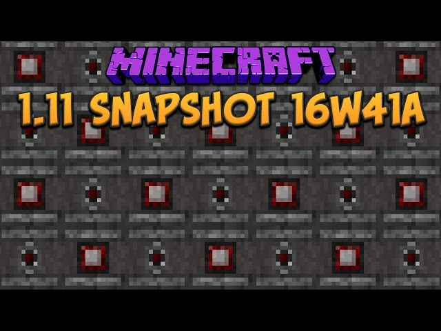 Minecraft 1 11 Snapshot 16w41a Observer Block Overhauled