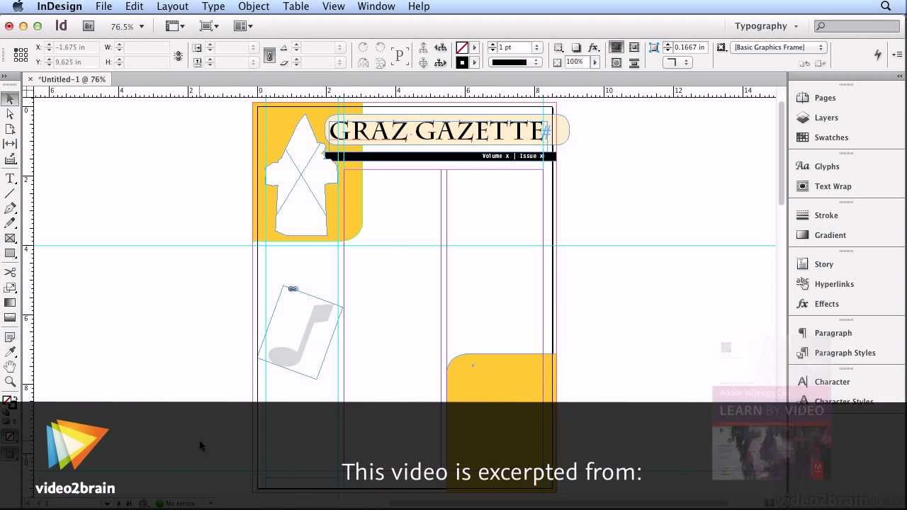 Create a newsletter in Adobe InDesign CS6 YouTube – Indesign Newsletter