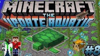 Minecraft Update Aquatic Turtle Farm Underwater Base - Ren & Doc Build Stuff #8
