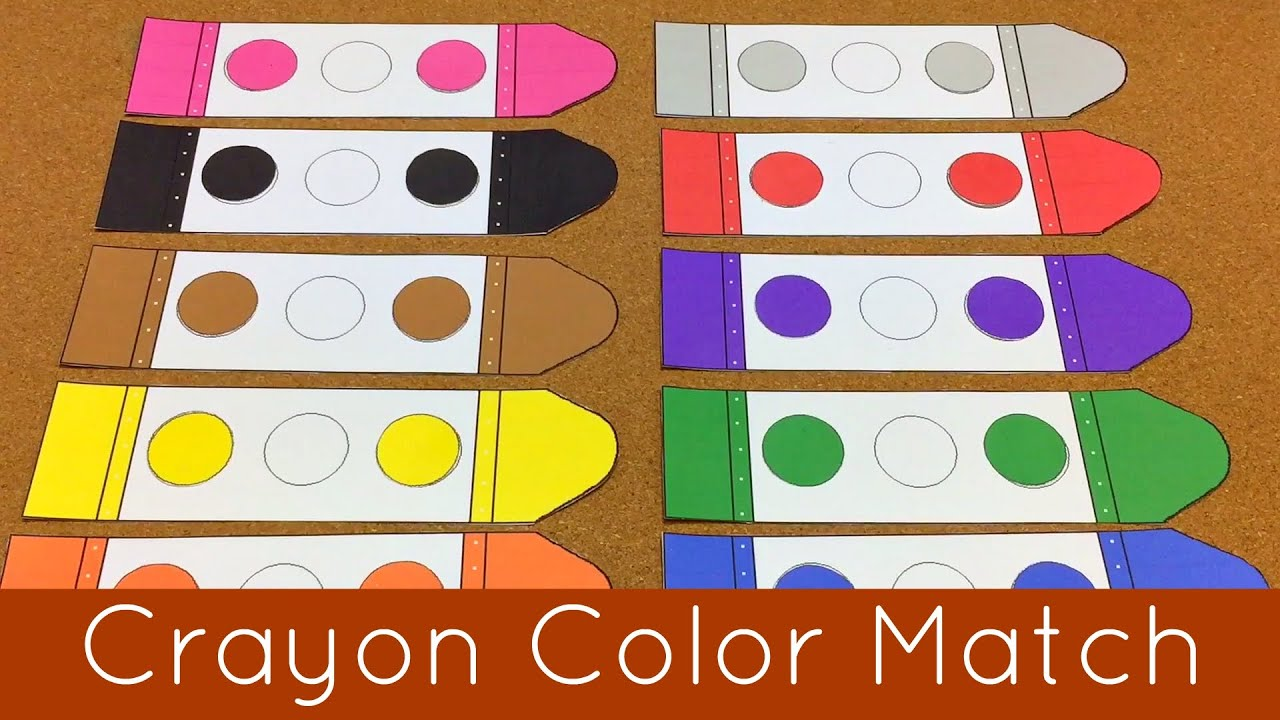 Crayon Color Match Presschool And Kindergarten Learning