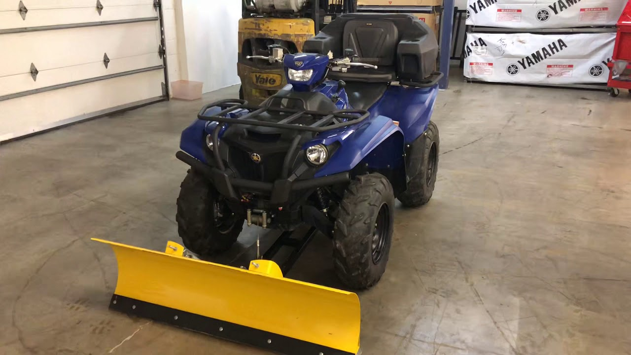 moose plow 2500lb warn winch and koplin box on a used 2016 yamaha kodiak 700 all for just 5995 00 [ 1280 x 720 Pixel ]
