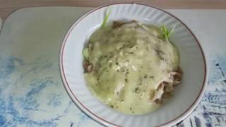 Лапша с кабачком и соусом из овсяных сливок / VEGAN