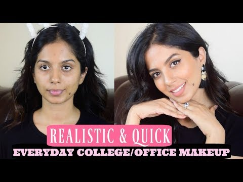 Everyday Realistic & Quick Makeup for Office/College. Summer Edition