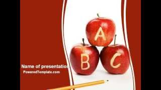 Apples ABC PowerPoint Template by PoweredTemplate com
