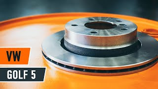 How to replace Brake rotors kit on VW GOLF V (1K1) - video tutorial