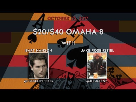 $20/$40 Omaha 8, Featuring Sean McCormack and Bart Hanson, Oct 25th 2017
