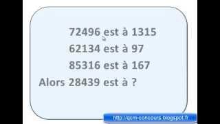 Tests psychotechniques Série de chiffres