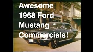 Awesome 1968 Ford Mustang Commercials
