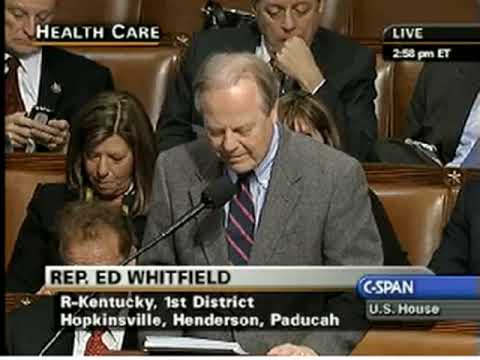 Rep. Ed Whitfield (R), KY 1st Speaking Against The Affordable Health Care For Americans Act
