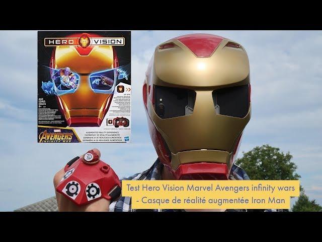 Test Hero Vision Marvel Avengers infinity wars - Casque de réalité augmentée Iron Man