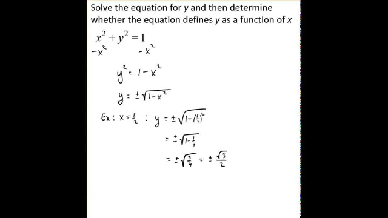 determine whether an equation represents a function
