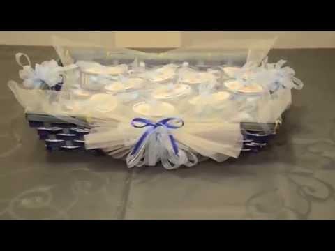 Segnaposto matrimonio battesimo comunione e confetti swing - Cesti porta bomboniere matrimonio ...
