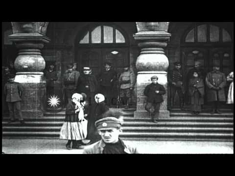 Street scenes in Vladivostok, Russia, during World War I. HD Stock Footage