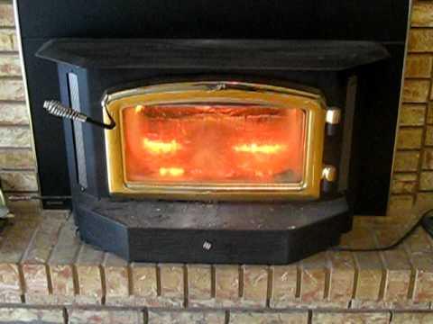 A Regency Fireplace Insert Close Up  YouTube