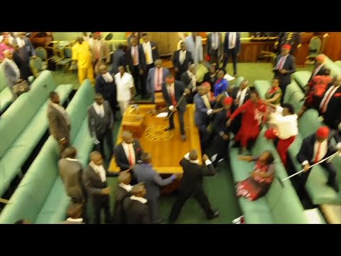 Raw: Fighting Erupts as Uganda Ejects MPs