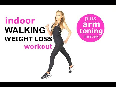 WALKING AT HOME BEGINNERS WORKOUT WALKING WORKOUT FOR WEIGHT LOSS WITH ARM EXERCISES FOR WOMEN