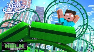 The Incredible Hulk Roller Coaster In 360° - A Minecraft Vr Video