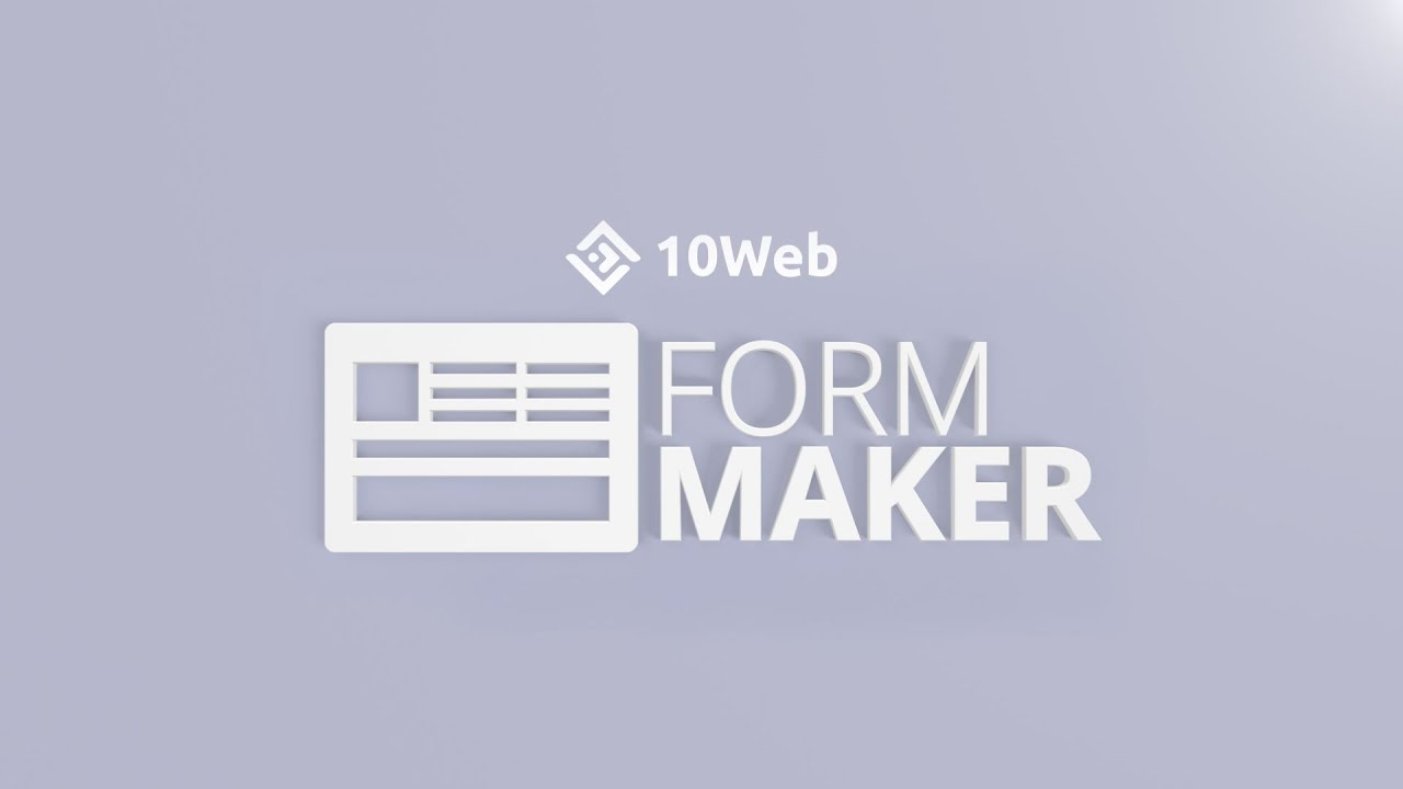 Form Maker by 10Web – Mobile-Friendly Drag & Drop Contact Form