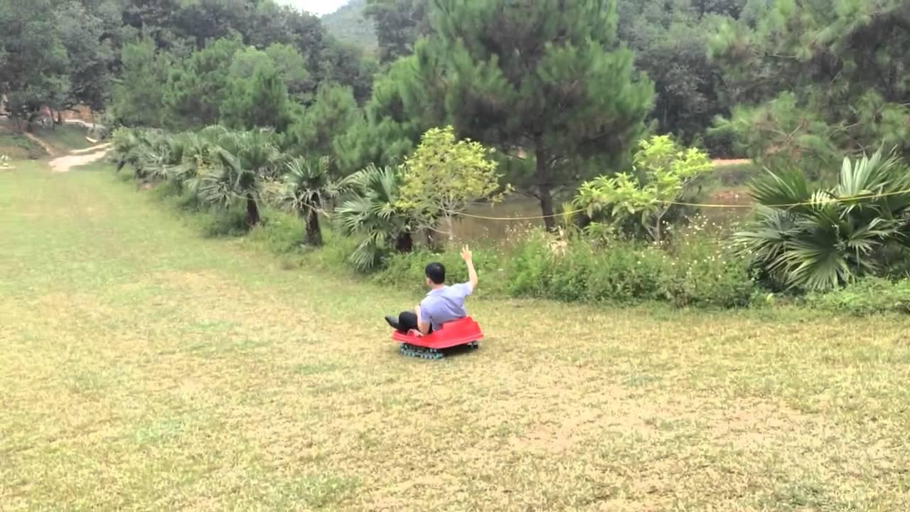 Trượt Cỏ ở Zen Resort Youtube