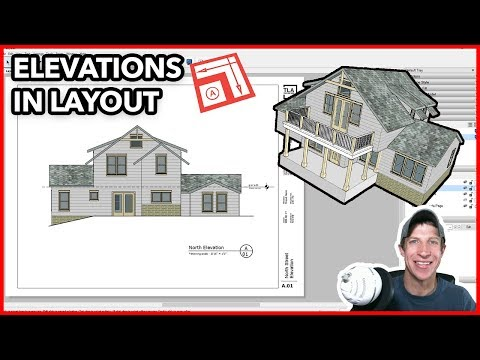 Creating Elevations in Layout from Your SketchUp Model