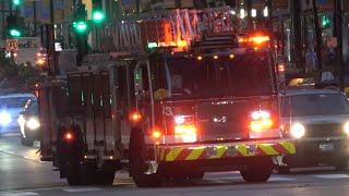 Chicago Fire Dept Truck 3 & Ambulance 28 Responding