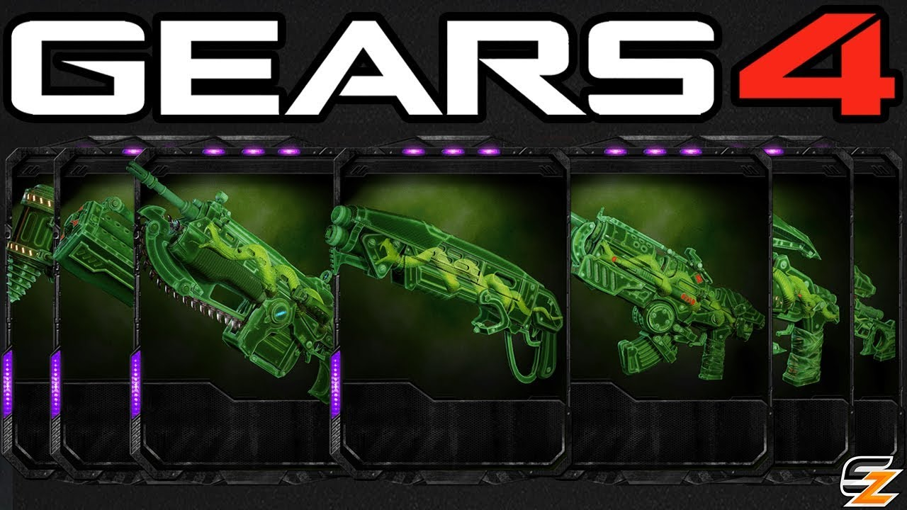 Gears Of War 4 Secret Weapon Skins That You Cant Get