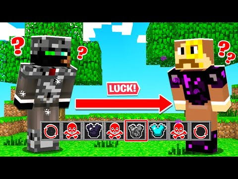 PUSH Your LUCK for BEDROCK Armor (Minecraft Loot)