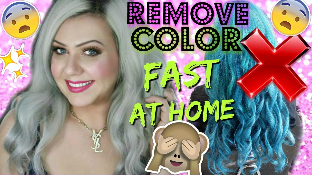 Remove Any Color From Hair No Bleach Step By Tutorial You