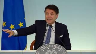 Tav, conferenza stampa del Presidente Conte