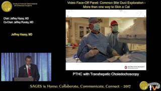 PTHC with transhepatic choledochoscopy