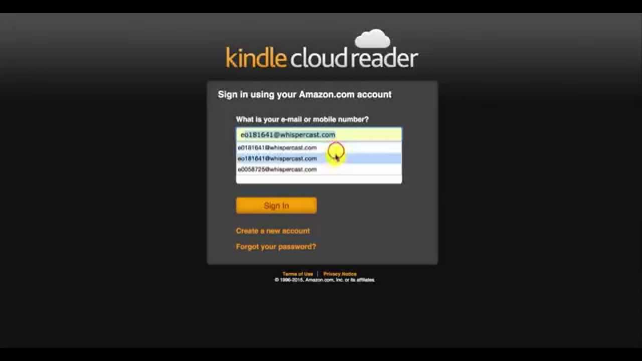 Kindle Cloud Reader Open and Download a Book