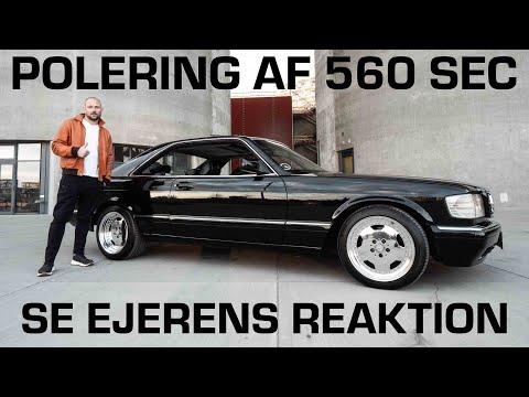 Mercedes 560 SEC Bil Polering.