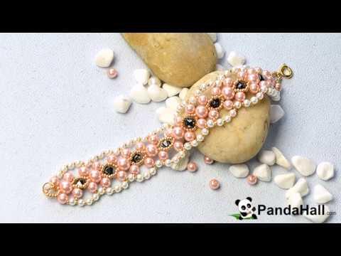 vid o 134 comment faire un bracelet large en perles de. Black Bedroom Furniture Sets. Home Design Ideas