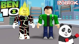 Ben 10 and Ben 23 Are Using Alien Special Powers! - Roblox with Panda