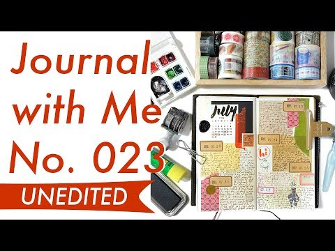 Journal with Me No. 023 (Unedited Rambling) | Midori Traveler's Notebook