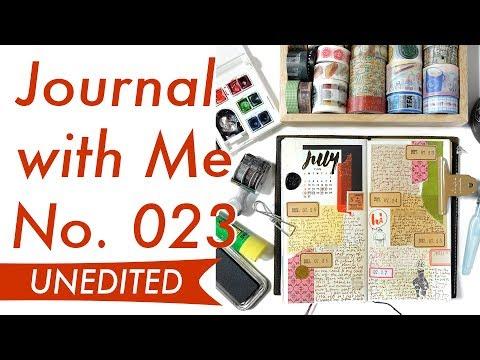 Journal with Me No. 023 (Unedited Rambling) | Midori Traveler's Notebook