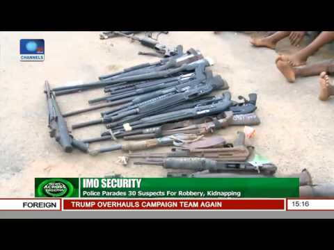 Imo Police Parade 30 Suspects For Robbery, Kidnapping