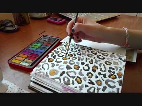 How To Draw Leopard Print On Cake