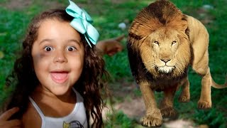 O LEÃO QUASE ME PEGOU! - Passeio no Zoo