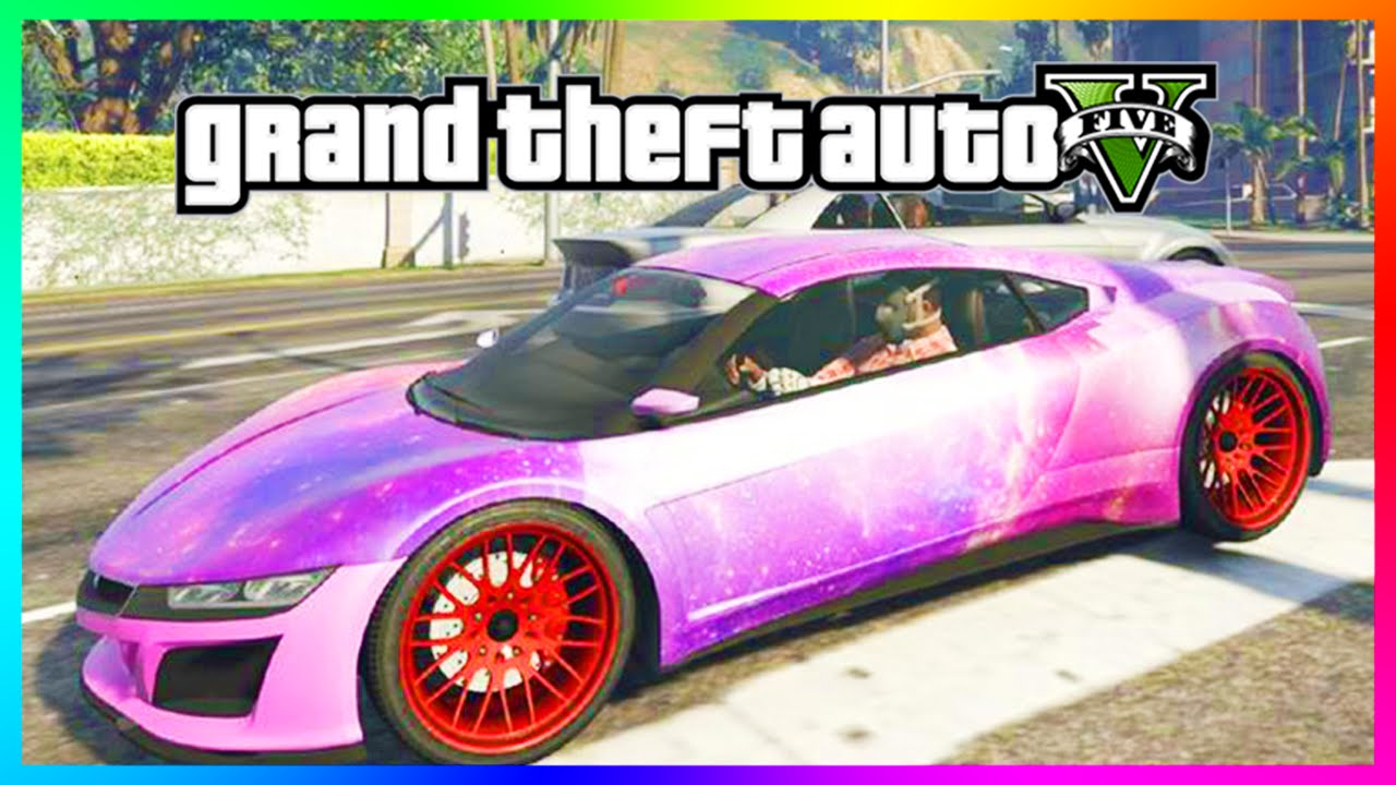 GTA 5 Amazing Custom Car Skins/Overlays - Galaxy, Tiger Tooth & MORE
