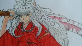 Como dibujar a Inuyasha con figuras geométricas / how to draw Inuyasha