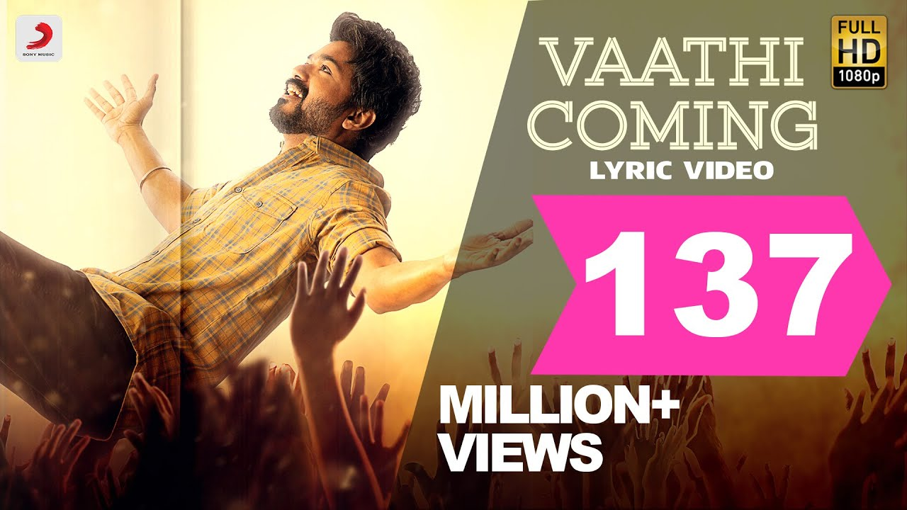 "Master - Second Single released ""Vaathi Coming"""