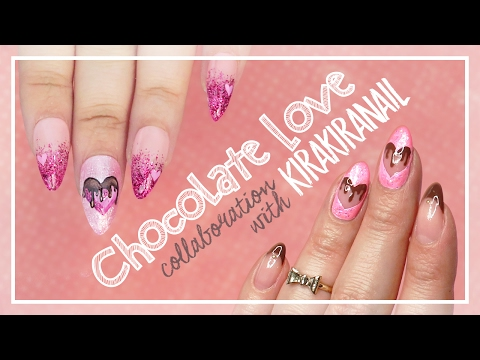 Chocolate Love Nail Art Tutorial // Valentine's Day Nail Art Collab With Kirakiranail