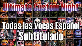 Todas las voces / diálogos subtitulados en español ultimate custom night fnaf 7