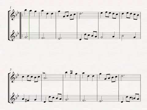 Menuet in G Major for Clarinet & Bass Clarinet