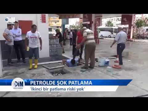 ALANYA'DA FACİADAN DÖNÜLDÜ Bir petrolde şok patlama - HABERLER