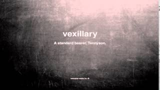 What does vexillary mean
