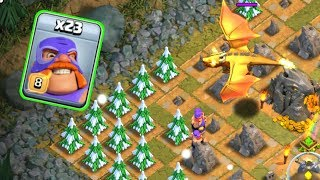 EL PRIMO VS MEGA DRAGON, DRAGON LAIR BASE ATTACK IN CLASH OF CLANS INDIA