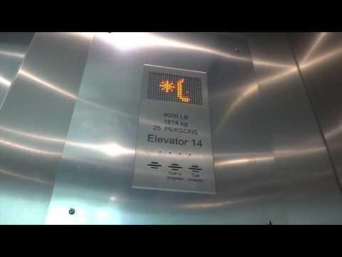 Kone EcoSpace Traction Scenic Elevators @ Fashion Center Pentagon City in Arlington, VA