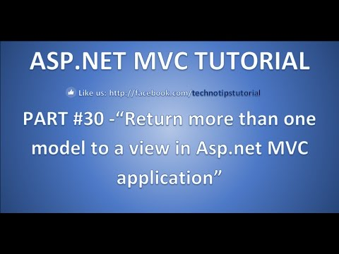 Part 30 - How to return multiple models to a view in asp.net mvc | Interview question